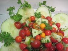Fresh Tomato, Cucumber & Herb salad