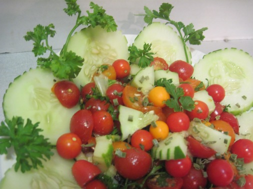 Fresh Tomato, Cucumber & Herb salad